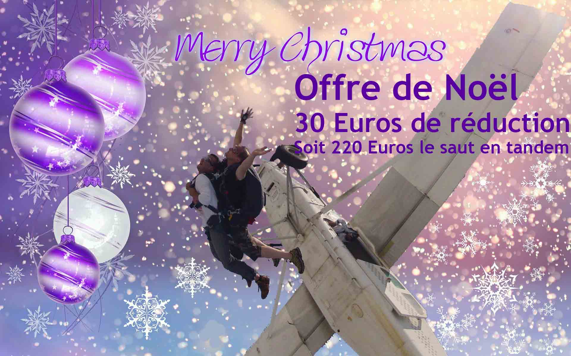 Offre de Noël 30 euros de réduction